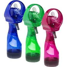 fan operated by battery. deluxe personal misting fan - hand held operated by battery m