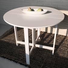 Küchentisch Esstisch weiß 96 x 75 cm 2 fach klappbar Klapptisch
