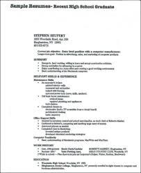 Recent High School Graduate Resume in PDF