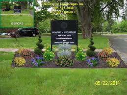 office landscaping ideas. Fine Office Commercial Landsca And Landscaping Sign Designs Simple Ideas Intended Office Landscaping Ideas N