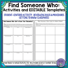Find Someone Who Game Template - April.onthemarch.co