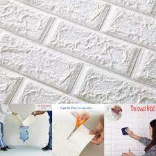 3D Brick Wall Sticker Self-Adhesive ...