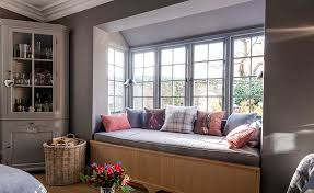 bay window seat. Perfect Seat In This Project The Deep Bay Window Has Been Utilised To House A  Comfortable Intended Bay Window Seat E
