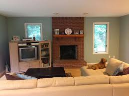 red brick fireplaces por home design excellent at paint colors for living room