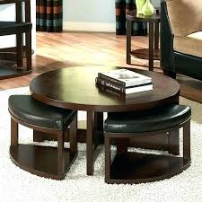 coffee table with ottoman seating coffee table with ottoman seating underneath round coffee table with seating