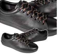 gucci shoes black and white. gucci mens shoes black leather sneakers 202753 (ggm1529) and white