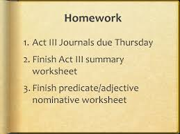 FFW  Take out homework: Essays; textbook questions  Begin to ...