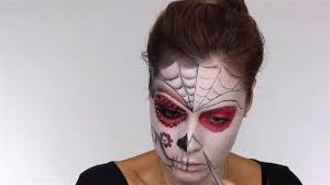 outline on nose easy day of the dead makeup tutorial perfect for