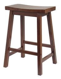 wood kitchen furniture. Winsome Saddle Seat 24-Inch Counter Stool, Walnut Wood Kitchen Furniture