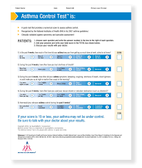 neighborhood health plan asthma education materials asthma control test