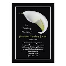 memorial service invitation memorial service invitation announcement template zazzle com