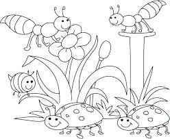 Coloring Pages For Spring Flowers Flowers Coloring Pages For Kids