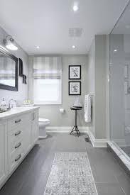 Bathroom Tile Floor Patterns Interesting Gray Tile Floor With White Vanity Bathroom Ideas Love How They