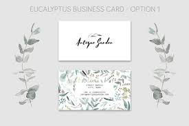 Free Download Eucalyptus Business Card Template Graphicrefer