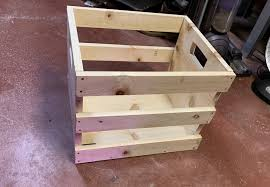 2nd ever build record crate for my wife woodworking diy