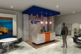 sales office design. 3D Visualization For Heavy Equipment Sales Office Design Variation.