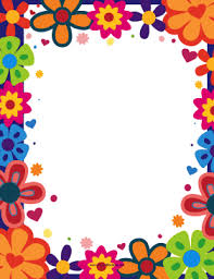 Small Picture The bright colorful flowers give this printable nature border a