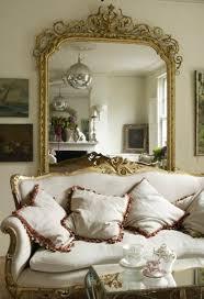 ornamental golden framed mirror