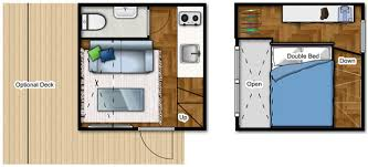 ... NOMAD LIVE Micro Home floor plan, both levels - Small prefab home ...