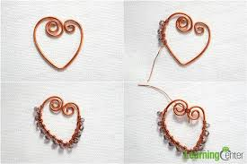 steps to make heart pendant necklace