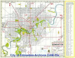 breaking the grid edmonton's city beautiful plan spacing edmonton Maps Edmonton 1957 road map solidifies the existence of much of present day layout of the area maps edmonton alberta canada