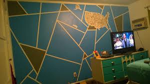 geometric wall paintCool Geometric Wall Painting Project DIY  Album on Imgur