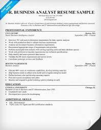 Sample Resume For Business Analyst Entry Level