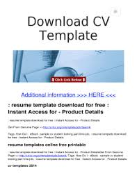 Editable Modern Cv Template Fill Print Download Electronic