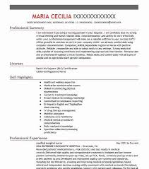 Surgical Nurse Resume Medical Surgical Nurse Resume Sample Resumes Misc Livecareer
