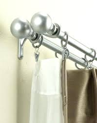double shower curtain rod brushed nickel round shower curtain rod brushed nickel