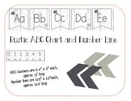 Abc And Number Chart Rustic Abc Chart And Number Line