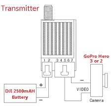 fpv aerial camera gopro a v radio transmitter receiver rf 5 8ghz note for gopro hero3 and hero2 the av cable is not same please add an order note to let us know yours is gopro hero3 or hero2 if you do not specify the