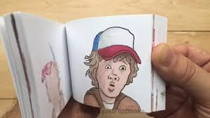 Flip Book With Photos Netflixs Stranger Things Gets Flipbook Tribute