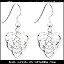 solvar irish jewelry sterling silver motherhood celtic knot earrings