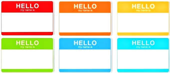 Word Badge Template Hello Name Tag Template