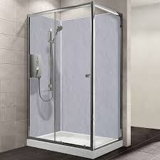 fusion light grey shower panel 900mm