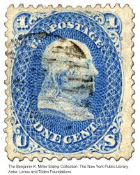 the first u s postage stamp honoring benjamin franklin patriot  1 cent blue stamp benjamin frankli z grill