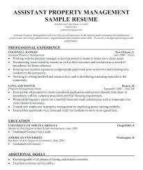 Apartment Rental Agent Sample Resume Interesting Property Manager Job Description Template Tangledbeard