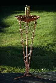 bowls copper bowl fountain birdbath garden art tubing made from a hand spun and brass