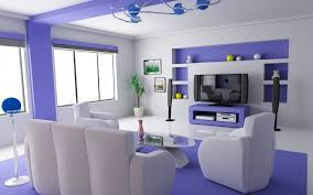 white interior paintUnique Purple And White Interior Paint With White Sofa Application