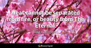 Dante Quotes Interesting Heat Cannot Be Separated From Fire Or Beauty From The Eternal