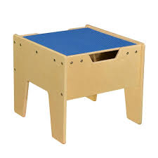 2 n 1 activity table with lego compatible top rta blue