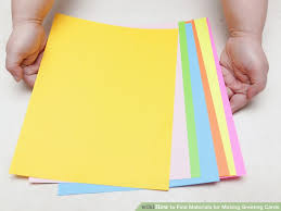 Chart Paper Greeting Card 3 Ways To Find Materials For Making Greeting Cards Wikihow
