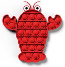 bol.com | ColourFam Fidget Toy Pop it | Rode Kreeft | Stress Verlagend |  Fidget Popper | Fidget...