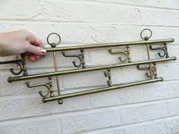Coat Rack Hardware Inspiration Vintage Brass Wall Mount Hanging 32 Swivel Double Hook Hardwareeasy