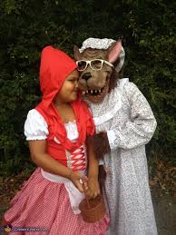 little red riding hood and big bad wolf costume kids