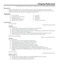 Cashier Resume Samples Simple Resume Format