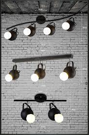 industrial track lighting. 1 2 3 4 Heads Industrial Track Lighting Black Ball Iron Retro Bedroom I