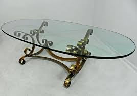 oval glass coffee tables awesome oval glass top coffee table regency rustic gilt iron oval glass