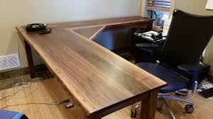 3264 1836 in office solid walnut liveedge l shape desk